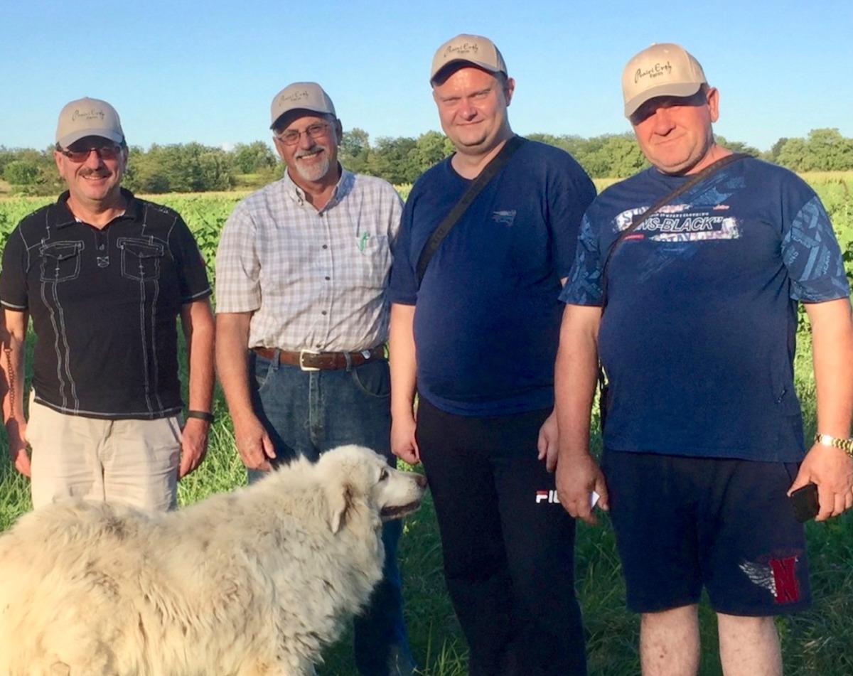 Farmers from Ukraine visiting PrairiErth Farm